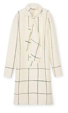 Tory Burch Heavy Silk Tie Dress