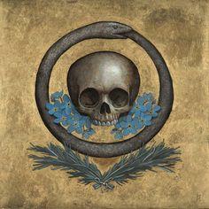 Previous pinner wrote: The Ouroboros is an ancient symbol depicting a serpent or… Memento Mori, Ouroboros, Crane, Eternal Return, Danse Macabre, Serpent, Freemasonry, Bear Art, Ancient Symbols