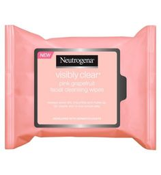 Neutrogena Visibly Clear® Pink Grapefruit Facial Cleansing Wipes - Boots