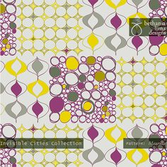 "Invisible City Collection, pattern ""Maurilia"", copyright Bethania Lima Designs, 2013"