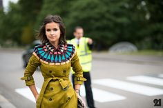 Miroslava Duma in Burberry