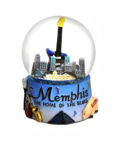 Memphis Tennessee Colorful Snow Globe 65mm ** You can find out more details at the link of the image.