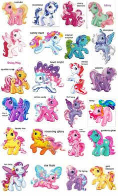 My Little Pony Names And Pictures List Google Search Pony In