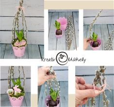 Plant Hanger, Diy And Crafts, Sweet Home, Easter, Education, Spring, Plants, Handmade, Home Decor