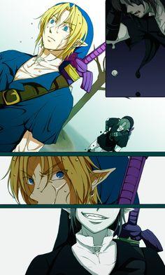 Dark Link and Link - Legend of Zelda