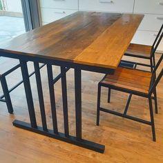 Dining table #antique #vintage #industrial #interior #funiture #barnwood #table #sloth #アンティーク #ヴィンテージ #インダストリアル #インテリア #家具 #ダイニングテーブル #ダイニングチェア #バーンウッド #古材 #アイアン #鉄 #スロース #オーダー家具 #福岡 #粕屋