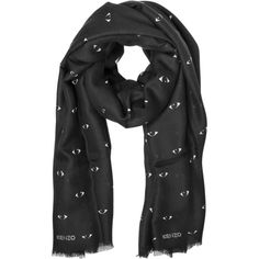 Kenzo Shawls & Wraps All Over Eye Printed Scarf (3.370 ARS) ❤ liked on Polyvore featuring accessories, scarves, black, shawls & wraps, shawl scarves, kenzo, wrap shawl, kenzo scarves and wrap scarves