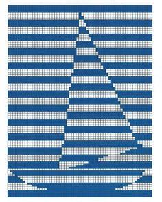 Gallery.ru / Фото #162 - Море, корабли (схемы) - Olgakam C2c Crochet Blanket, Crochet Bedspread Pattern, Crochet Squares Afghan, Crochet Motifs, Tapestry Crochet, Crochet Chart, Filet Crochet, Cross Stitching, Cross Stitch Embroidery