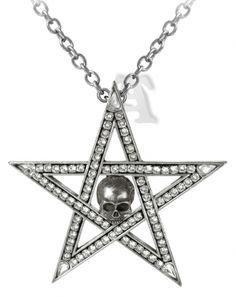 Alchemy Gothic Crystalwitch Swarovski Crystal Pentagam Pendant