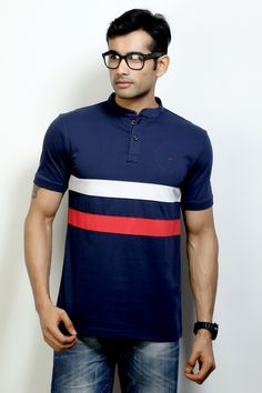 Fashion Polo with Cut & Sew Fabric to Rock your Weekend with a Stylish Collar