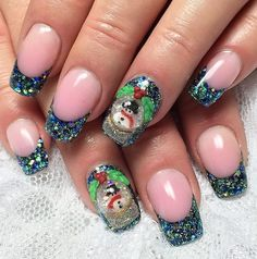 Don't spend all of your time looking for the best manicure for special occasions? Check out this ultimate easy holiday nail art designs guide now! Christmas Nail Art Designs, Holiday Nail Art, Winter Nail Art, Winter Nails, Christmas Nails, Snow Globe Nails, Tammy Taylor Nails, Beautiful Nail Art, Stiletto Nails