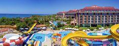 Nashira Resort Hotel & Aqua – Spa - Oteli Selçuklu saray mimarisi tarzındadır. Karşılama bölümleri Sivas çifte minaresinin giriş kapısının planı uygulanmıştır. Konuklarını, önce şelalesi sonra 8 çocuk 10 büyük, 4 jakuzi havuzları ile ve deniz karşılar. Odalarının çoğu deniz, havuz bir kısmı …