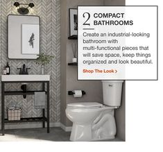 Compact Bathroom, Space Saving, Toilet, Organization, Shopping, Getting Organized, Flush Toilet, Organisation, Bathroom Small