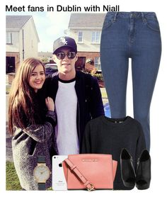 """""""Meet fans in Dublin with Niall"""" by irish26-1 ❤ liked on Polyvore featuring Olivia Burton, Topshop, Pieces and MICHAEL Michael Kors"""
