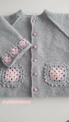 Crochet Home, Crochet Baby, Baby Knits, Baby Cardigan, Baby Knitting Patterns, Diy Gifts, Sweaters, Collection, Fashion
