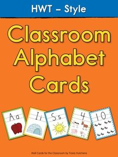 HWT-Style Classroom Wall Cards (Handwriting Without Tears)