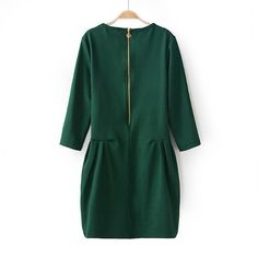 Evergreen 3/4 inch Sleeve Dress