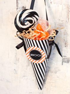Halloween Treat Cones  - 21 Halloween Party Favor and Treat Bag Ideas on HGTV