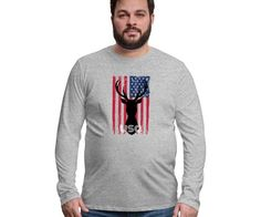 AMERICAN FLAG APPAREL - AMERICAN FLAG APPAREL Graphic Sweatshirt, T Shirt, American Flag, Sweatshirts, Long Sleeve, Sleeves, Sweaters, Mens Tops, Fashion