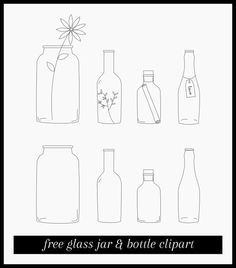 Free download: Glass jar and bottle clipart.