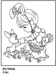 Image detail for -Have fun coloring this Precious Moments  Easter Bunny Coloring Page ...