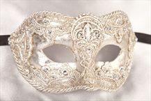 Luxury Mens Macrame Masks - Wedding Masks - COLOMBINA