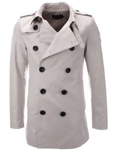FLATSEVEN Mens Designer Double-Breasted Trench Coat (CT301) Beige, Size L FLATSEVEN http://www.amazon.com/dp/B00EL5GHGQ/ref=cm_sw_r_pi_dp_6ZW2ub13XCQH2 #FLATSEVEN #Men #Fashion #Coat