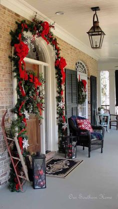 Dreaming of a White Christmas {Porch}