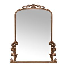 Bring style and sophisticated elegance to your home with our Gold Bordeaux Ornate Scroll Mirror! Place this mirror anywhere to add vintage flair to your decor. Gold Vanity Mirror, Ornate Mirror, Vintage Mirrors, Gold Mirrors, Framed Mirrors, Bathroom Mirrors, Mirror Mirror, Anthropologie Mirror, Spiegel Design