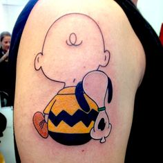 Charlie Brown and Snoopy tattoo                                                                                                                                                      More