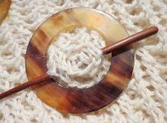 Belinda Harris-Reid hand-made lovely things - shawl pins: trinity (rosewood, sheehsam and papdee wood)