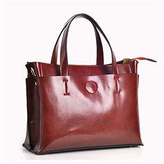 Bagoddess Ladies Retro Leather Elegent Satchel Texture Handle Inspired Tote Handbag - http://bags.bloggor.org/bagoddess-ladies-retro-leather-elegent-satchel-texture-handle-inspired-tote-handbag/