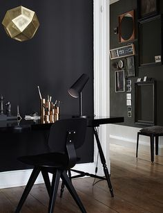 Black and Gold Luxury Design Office | Find more luxury unique desks for your office in http://www.bocadolobo.com/en/products/writing-desks.php