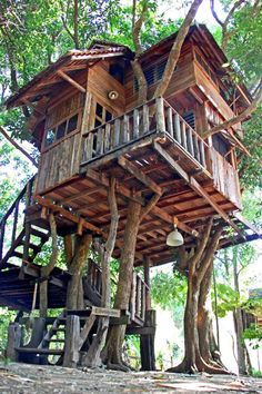 Treehouse at the Rabeang Pasak Chiangmai Treehouse Resort in northern Thailand. Treehouse at the Rabeang Pasak Chiangmai Treehouse Resort in northern Thailand. Building A Treehouse, Treehouse Ideas, Treehouse Living, Tree House Resort, Beautiful Tree Houses, Cool Tree Houses For Kids, Architecture Design, Amazing Architecture, Tree House Plans