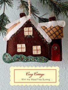 Free pattern: Felt ornaments for your Christmas tree
