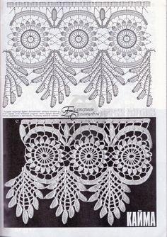 Häkelspitze Spitze häkeln - crochet border