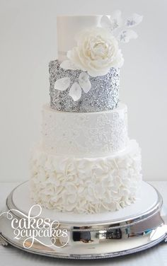 These Wedding Cakes are Incredibly Stunning - MODwedding - would have been perfect for my 25th wedding anniversary: