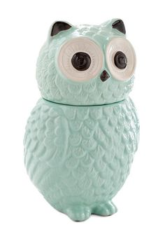 Hoot Wants a Cookie? Canister.  #mint #modcloth