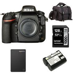 Nikon D810 FX-format Digital SLR Camera Body w/ Seagate 1TB Hard Drive and Accessories