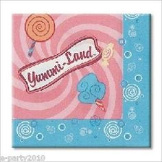 YUMMI-LAND SMALL NAPKINS ~ Birthday Party Supplies Cake Candy Beverage