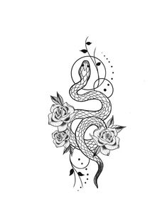 - - - – – -You can find Tattoo drawings and more on our website. Dope Tattoos, Mini Tattoos, Dainty Tattoos, Pretty Tattoos, Flower Tattoos, Body Art Tattoos, Small Tattoos, Snake And Flowers Tattoo, Tatoos