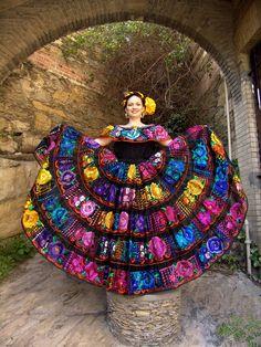 Traje de Mariposa en Chiapas, México.