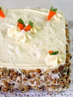 Pastel de Zanahoria, una receta muy especial !! - Las delicias del buen vivir Cake Cookies, Cupcake Cakes, Cupcakes, Fondant Icing, Edible Art, Camembert Cheese, Carrots, Sweet Tooth, Food And Drink