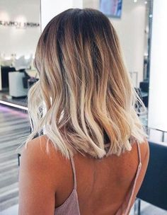 ombre lob hairstyle for women - long bob haircut