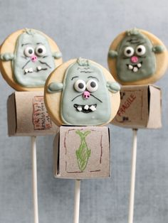 boxtrolls cookie pops- How to make them