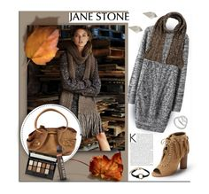 """""""Cosy Knits...Jane Stone"""" by melissa-de-souza ❤ liked on Polyvore featuring Daniele Fiesoli, Cynthia Vincent, Cole Haan, Maybelline, Burt's Bees, pretty, jewelry and janestone"""