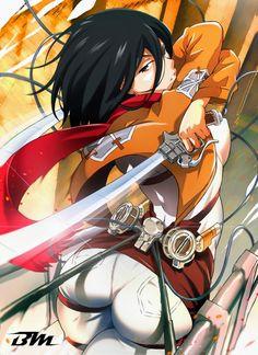 Shingeki no Kyojin Creator Says Anime Better Than Manga Mikasa Ackerman Fanart, Eren And Mikasa, Levi Ackerman, Manga Anime, Manga Girl, Ymir, Otaku, Eroge, Cosplay Anime