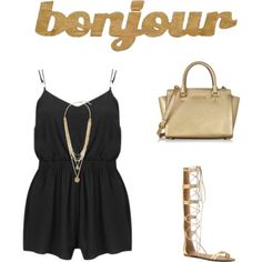 vacation - bonjour by realwendi on Polyvore featuring polyvore fashion style MINKPINK ALDO Michael Kors Vince Camuto Slippin' Southern