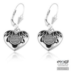House of Harley-Davidson Harley Davidson Jewelry, Harley Davidson Motorcycles, Dont Text And Drive, Harley Gear, Harley Davison, Biker Gear, Biker Chick, Jewelry Collection, Dangle Earrings