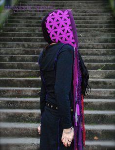 Scoodie Gypsy Hood Hooded Scarf Hoodie by IntergalacticApparel